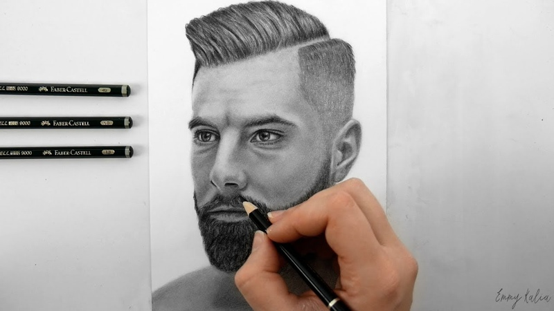 DRAWING A MAN WITH BEARD