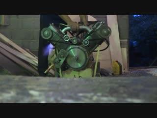 Первый запуск самодельного мотоциклетного двигателя