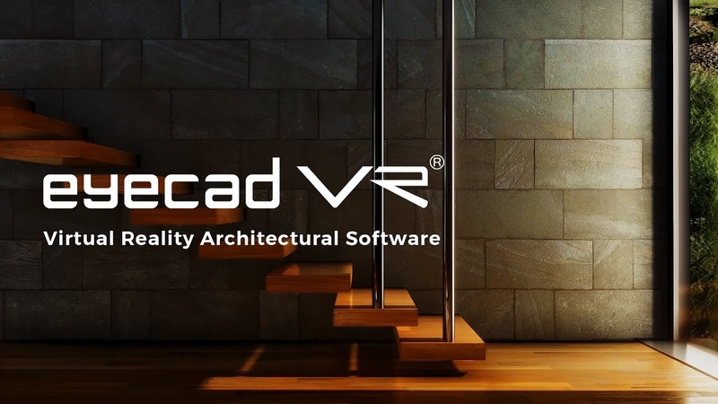 Real-time Rendering Software for VR Architecture - eyecad VR 1.7 for Windows and MacOS