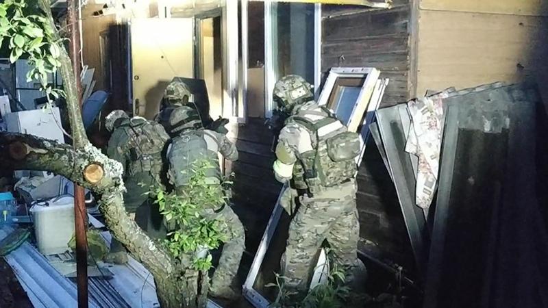 Опубликовано видео с места ликвидации террористов под Владимиром