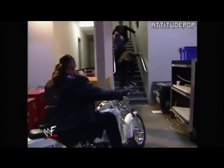 The Undertaker Attempts to Run Over Mr McMahon SmackDown 2000