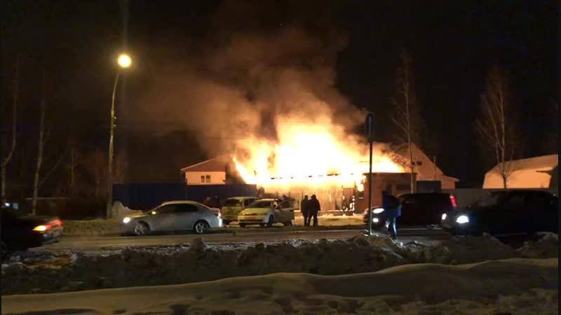 Пожар в Усть-Ижоре