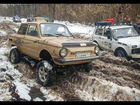 МегаЗАЗ Zalu@a vs Jeep Grand Cherokee WJ и НИВЫ off road зимняя ТАНКОВАЯ ДОРОГА