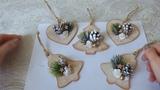 Елочные игрушки из деревянных заготовок мастер класс/новогодний декор своими руками