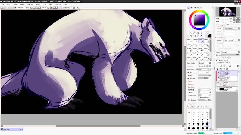 Sketchbook Sunday 51 ✦ Bear Critter ( 1080 X 1920 )