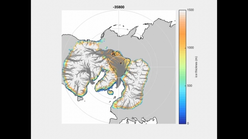 Numerical simulations of a kilometre-thick Arctic ice shelf consistent with ice grounding observations