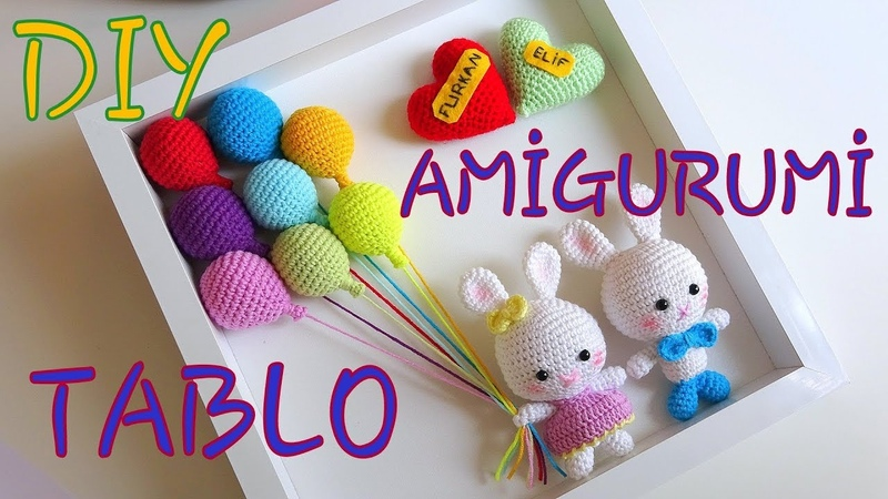 AMİGURUMİ TABLO YAPIMI! - Kendin Yap Amigurumi Tablo - How To Make A Knitting Table