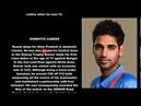 Indian Cricketer Bhuvneshwar Kumar Singh Biography Detail