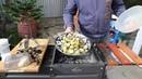 Запеченые на мангале овощи гриль кабачки баклажаны