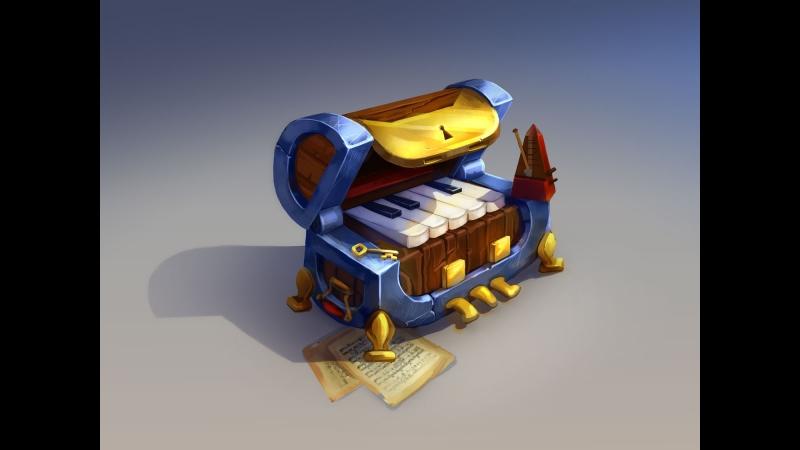 Рендерю сундук пианино