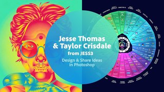 Live Designing & Sharing Ideas in Photoshop with Jesse & Taylor from JESS3 - 1 of 3