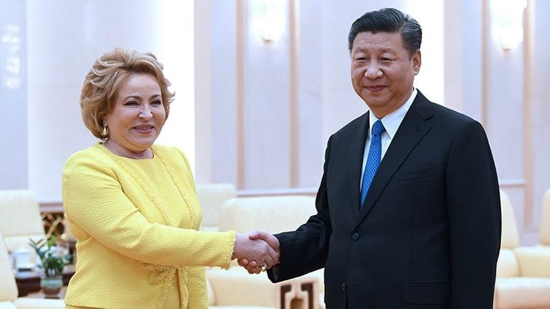 Xi meets visiting Russian Federation Council Speaker, calls for legislative cooperation
