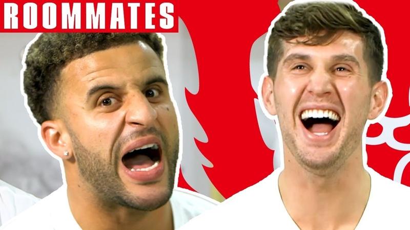 Walker v Stones | Walker STILL Cant Believe his FIFA 19 Stats! | Roommates | England
