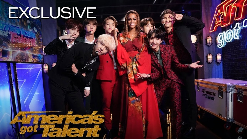 BTS and Tyra Banks Show Off Their Idol Dance Moves - America's Got Talent 2018