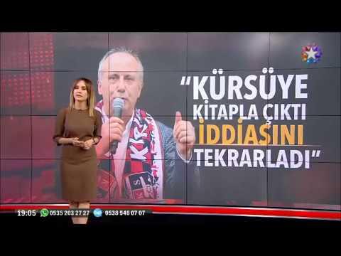 Muharrem İnce elinde kitap Necmettin Erbakan Erdoğan ve Bahçelinin videolarını izlettirdi