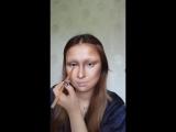 Мастерский мейк и живая Мона Лиза перед вами Imitation makeup Mona Lisa