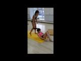 Екатерина и Дарья (двойка)последняя тренировка перед чемпионатом .