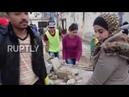 Волонтеры приступили к уборке лагеря беженцев Ярмук