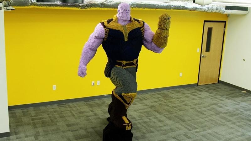 Life Sized LEGO Thanos Timelapse