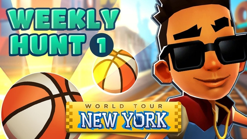 🏀 Collecting Basketballs in New York - Subway Surfers Weekly Hunt (Week 1)