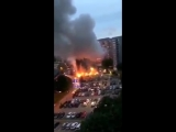 BREAKING Serious situation in Sweden. Youths torched around 14 cars near a shopping centre