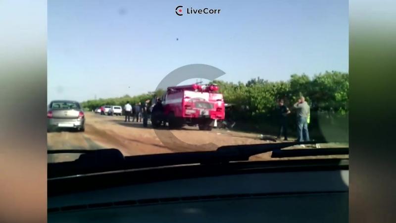 Автобус и зерновоз столкнулись в Ставропольском крае