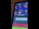 I had great tickets to a baseball game and my friend texted me he was sitting behind me. He was really at home videoing me on TV