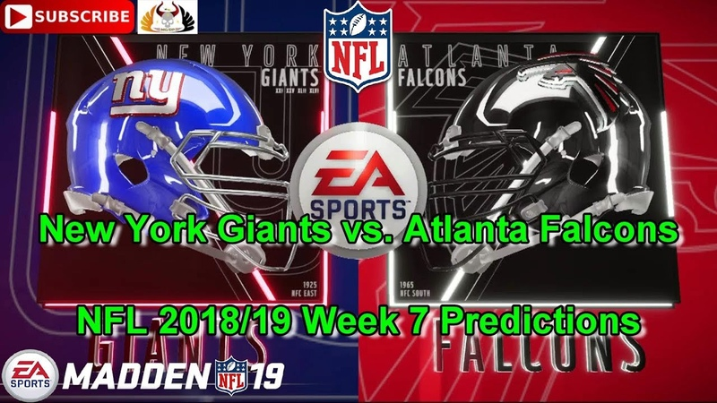 New York Giants vs. Atlanta Falcons | NFL 2018-19 Week 7 | Predictions Madden NFL 19