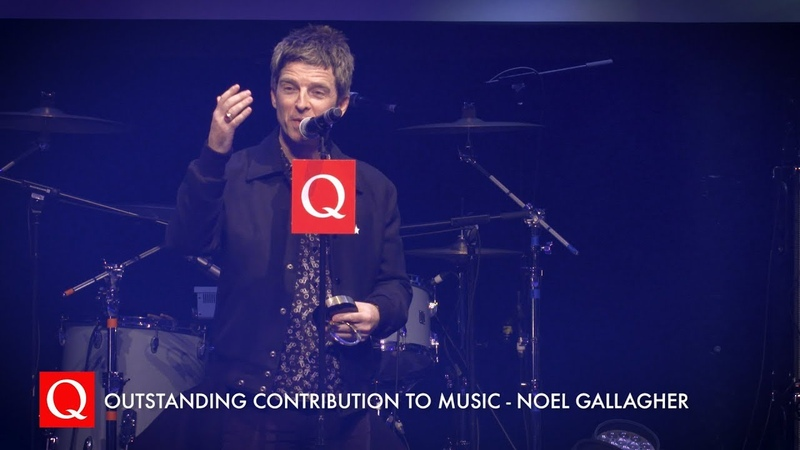 Bono Presents Noel Gallagher with the Outstanding Contribution To Music Award QAwards