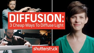 Diffusion Basics: 3 Cheap Ways To Diffuse Light | Shutterstock Tutorials