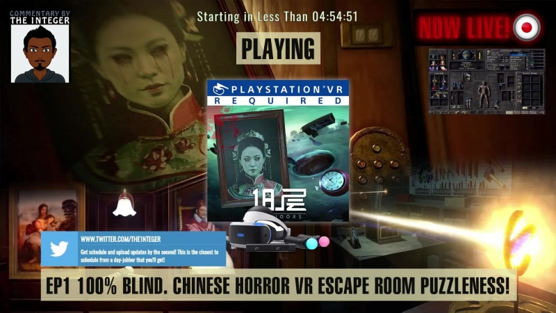 18 Floors VR PSVR Chinese Horror Escape Room Puzzle Game [VR WebCam] [100 Blind] - EP 1 (Lets see how this goes! S) [ENG