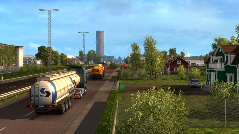 Euro Truck Simulator 2 пейзажи скандинавии