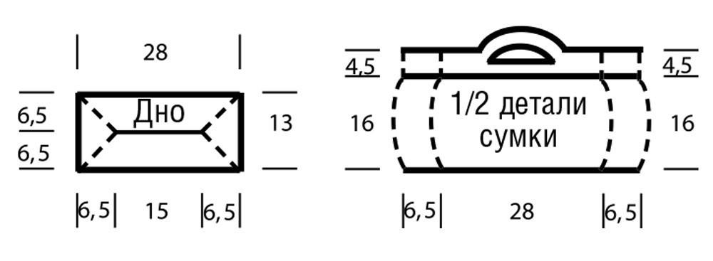 Платок волнистым узором и сумка