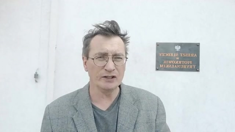 Polish Political prisoner after 14 days of hunger protest Sławomir Dul po proteście głodowym