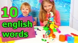 English for kids Play with plasticine Play Doh We sculpt various interesting things and have fun