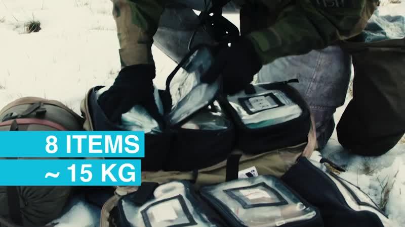 Що в рюкзаку у норвезького військового медика