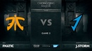 Fnatic vs Game 2 Loser Bracket The Chongqing Major 2019