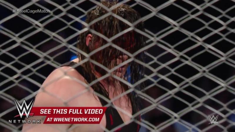 Demon Kane attack Seth Rollins Live MSG 2015