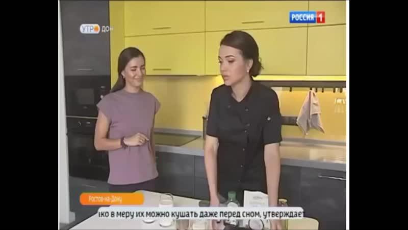 Выпуск новостей на канале Россия Дон, рассказываю о пользе десертов без сахара