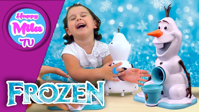 How To Make Snow Cones Olaf Snow Cone Maker Frozen funny review | HappyMilaTV 105