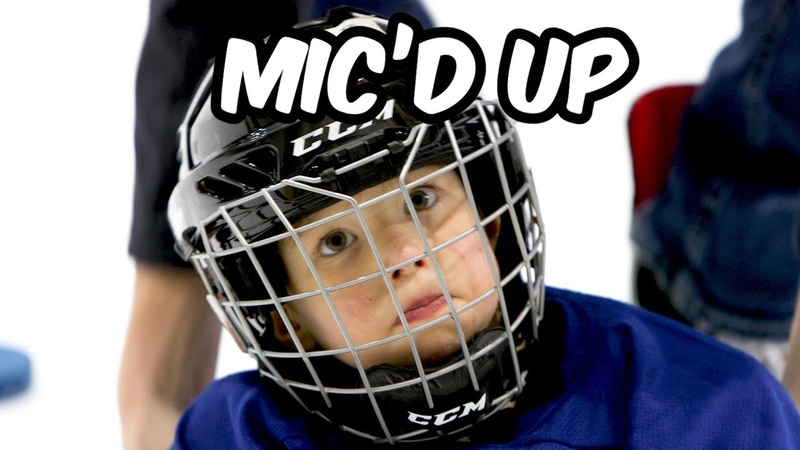 4 Year Old Mic'd up at Hockey