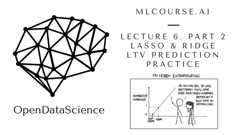 Mlcourse.ai. Lecture 6. Part 2. LASSO and Ridge. LTV prediction. Practice