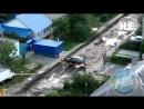 Житель Воронежа заезжает домой во время ремонта дороги