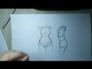 Как нарисовать аниме Тело, Торс, Туловище. _ Как рисовать аниме с нуля 5