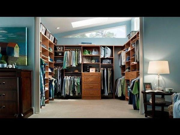 Организация пространства в гардеробной комнате Фото идеи дизайна интерьера