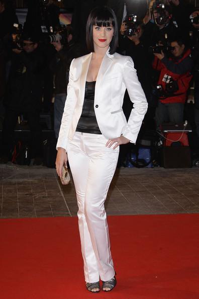 Кэти Перри в белом