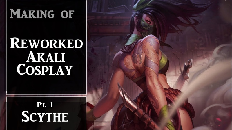 COSPLAY TUTORIAL | Making of Akali - Part 1 Scythe | Yen Cosplay