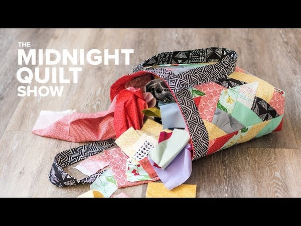 A QUILTED TOTE BAG Challenge with The Crafty Gemini! | Midnight Quilt Show
