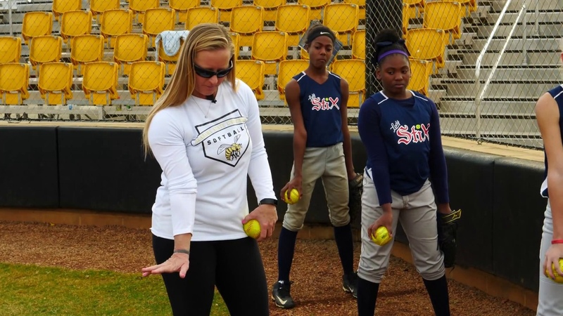 Youth Softball Pitching Working on the Snap Coach Christina Steiner Wilcoxson