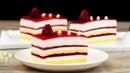 Самый легкий и очень вкусный десерт пирожное с муссом из белого шоколада и малиной